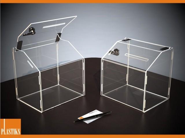 spendenbox mit schloss aus acryl 19de030a 8 beliebige gr en und formen kaufen in. Black Bedroom Furniture Sets. Home Design Ideas