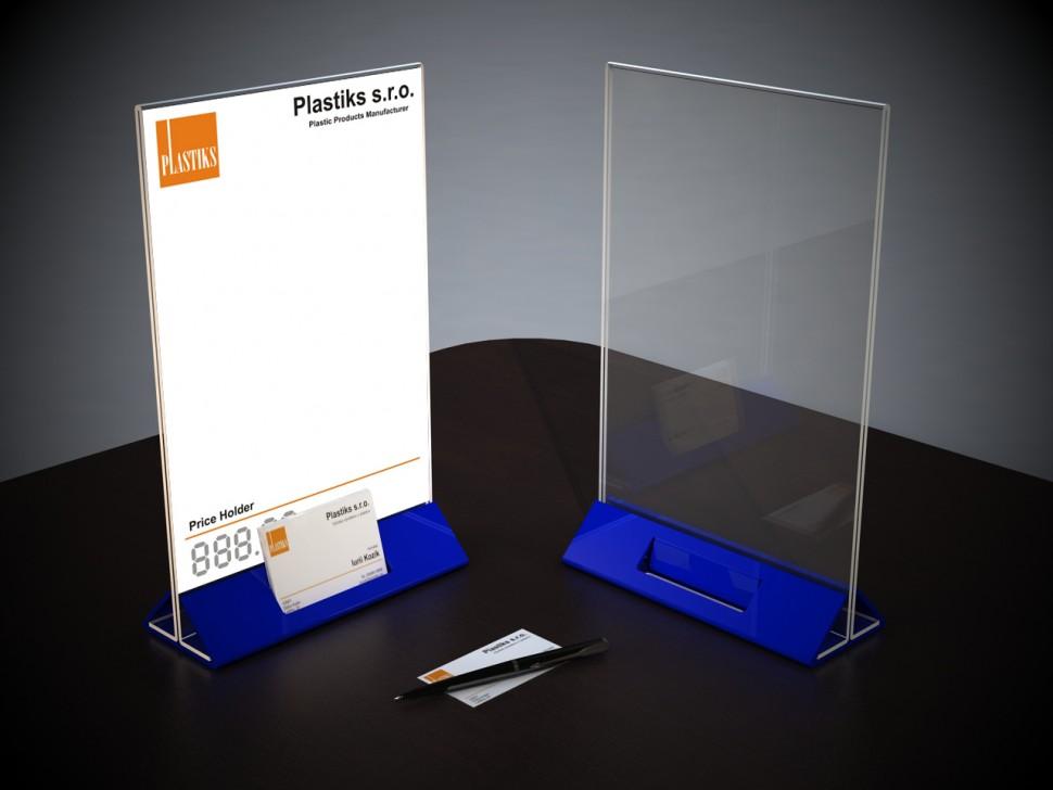 Plexiglas Aufsteller а4 Mit Visitenkartenhalter