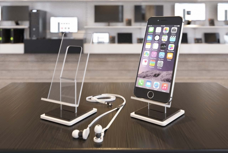 st nder f r smartphone crylhalter f r iphone aus plexi plastiks. Black Bedroom Furniture Sets. Home Design Ideas
